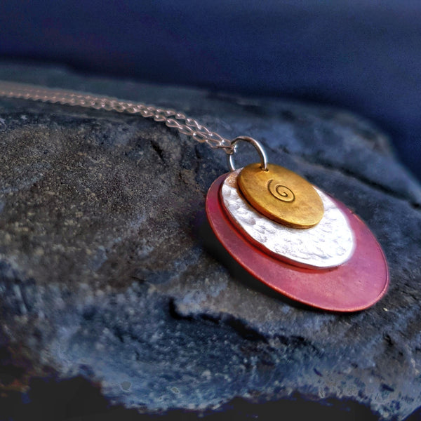 Journey Trio Circle Necklace