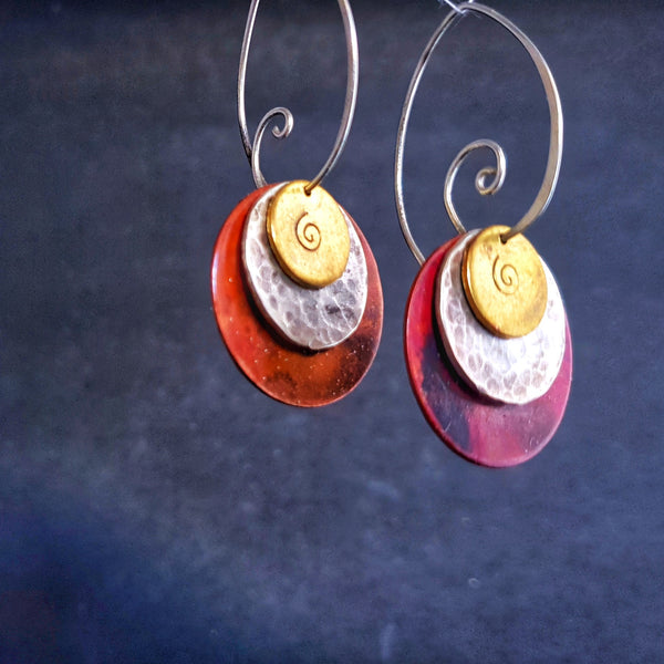 Journey Trio Circle Earrings