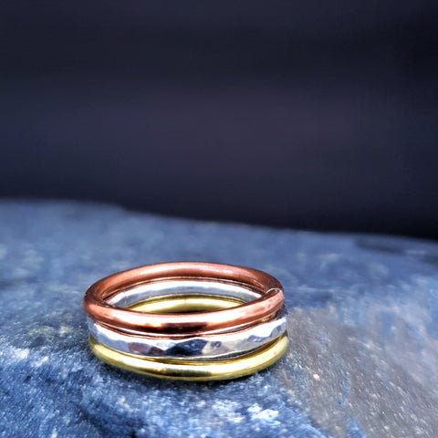 Journey Trio of Rings Silver