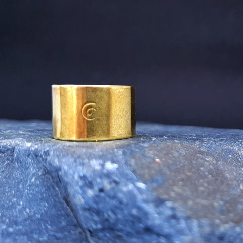 The Journey Ring in Shining Gold