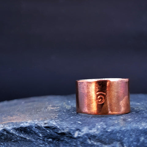 Copper Wide Band Ring