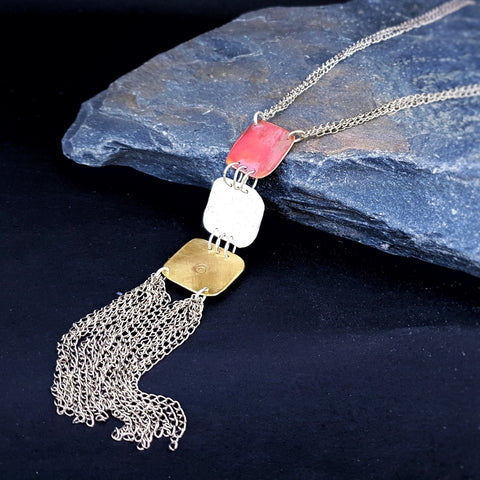 Journey Trio Long Tassel Necklace