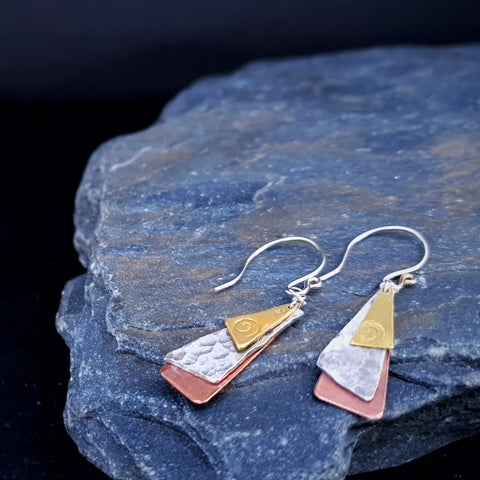Journey Trio Toki Earrings