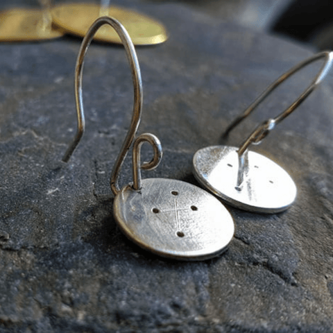 Metals Star Map Earrings
