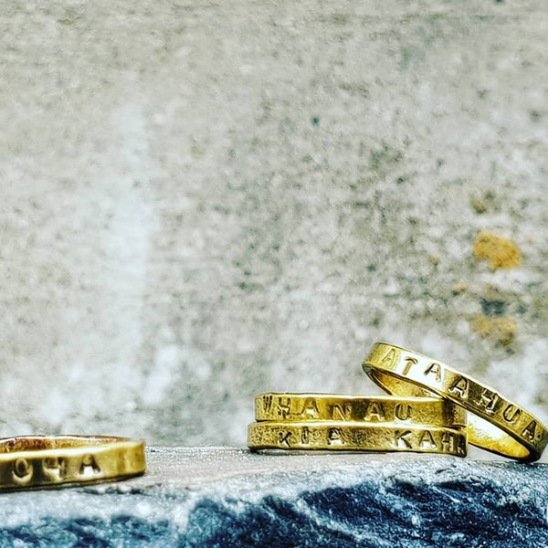 Intention Rings Trio Gold