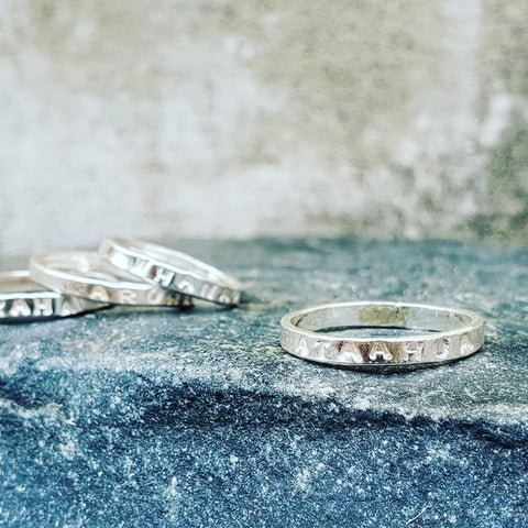 Intention Rings Trio Silver