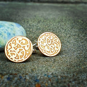 Etched Circle Cufflinks