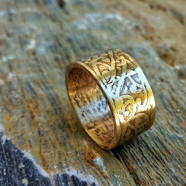Etched Unisex Ring Band