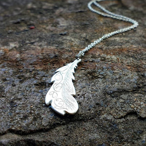 Freedom Feather Necklace Silver