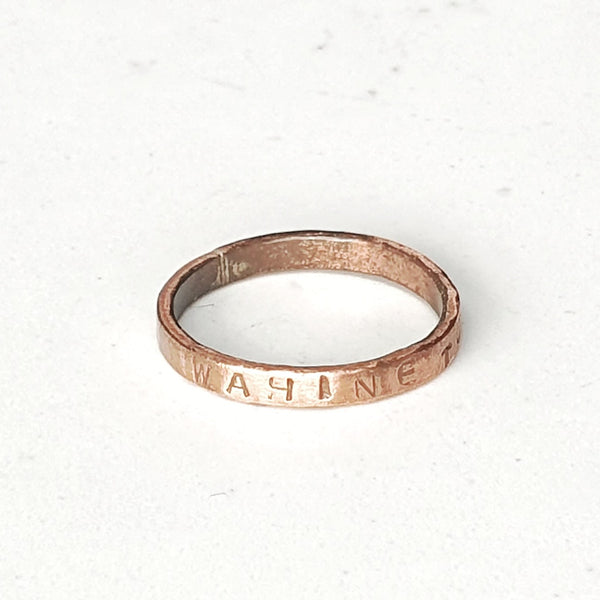 Intention Ring Single Gold