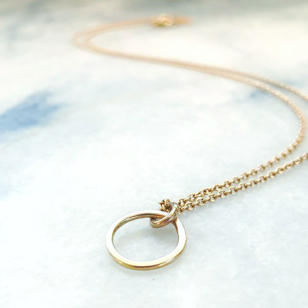Mini Pebble Single Necklace Gold