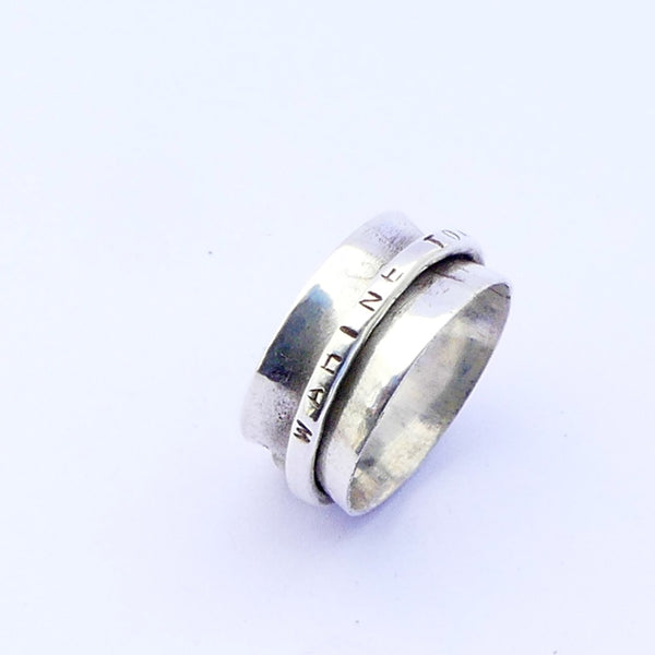 Silver Meditation Ring Single Band
