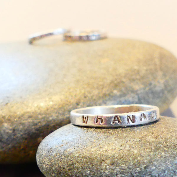 Intention Ring Single Silver