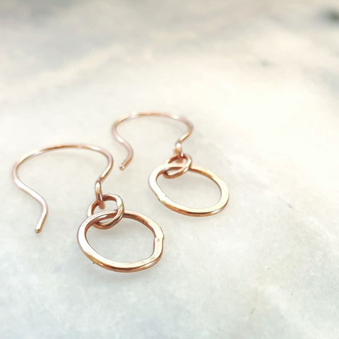 Mini Pebble Single Earrings Gold
