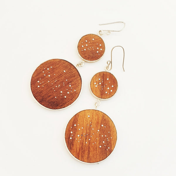 deluxe double star map earring 2