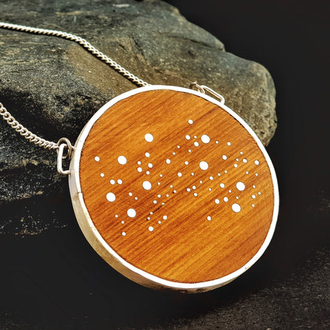 smn018 Large deluxe Star Map necklace 5