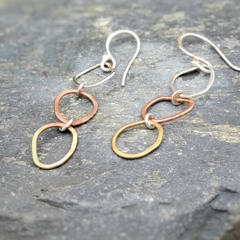 Pebble Trio Drop Earrings