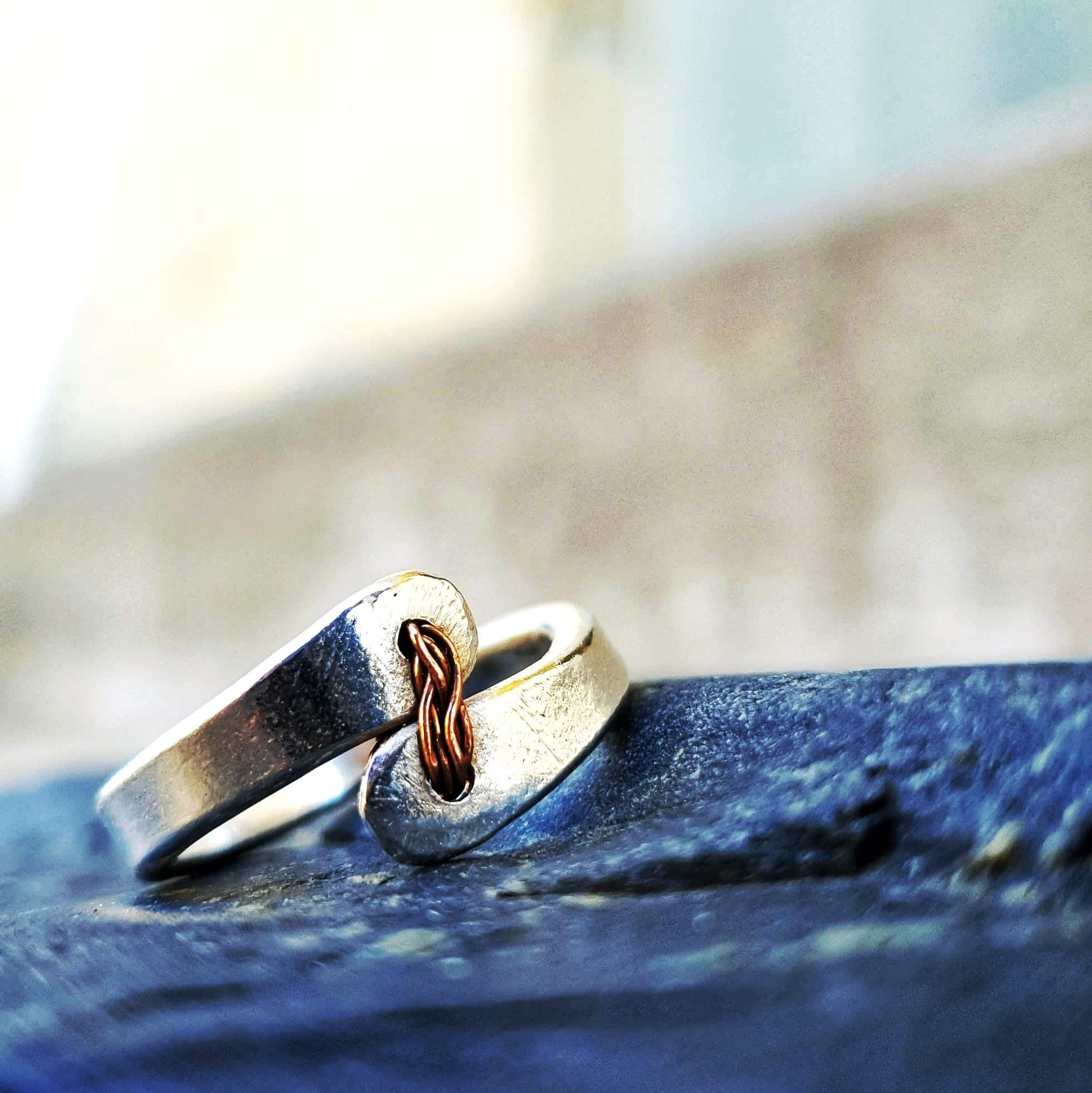 Red Thread Offset Ring