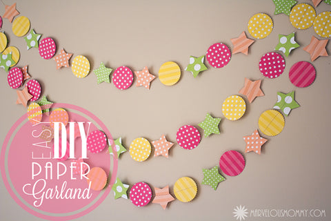 Paper Decorations Getting Creative With Paper Garlands