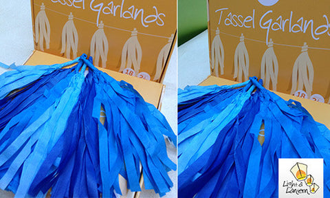 blue tassel garlands