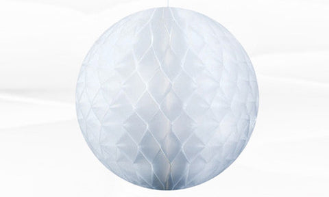 White honeycomb paper balls