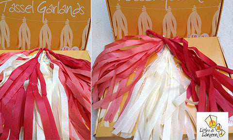 red and cream tassel garlands
