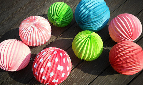 Watermelon / Accordion paper lanterns