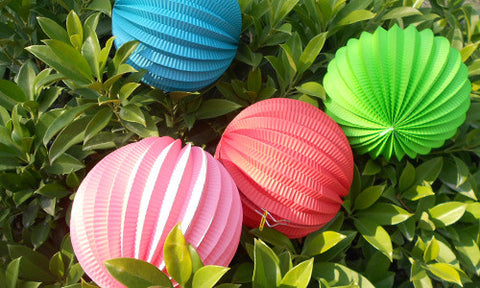 Watermelon / Accordion paper balls lanterns