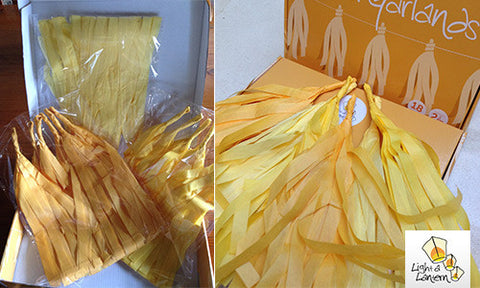 yellow tassel garlands