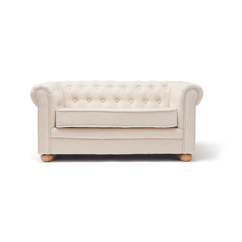 Sofa chesterfield beige small - Perlafine