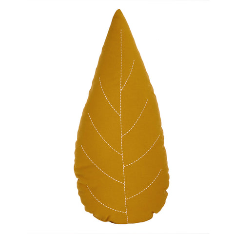 Coussin feuille (ocre)