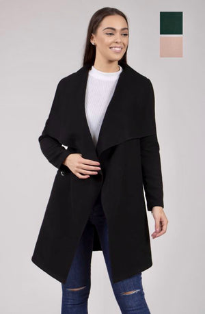 Wide Lapel Edge To Edge Coat