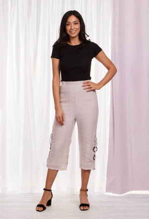 Elastic Waist Wide Leg Layered Pant
