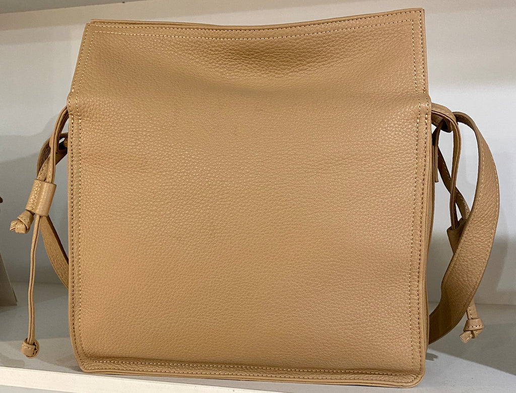Soft Leather Press Stud Bag