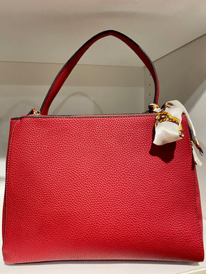 Structured Handbag With Handle Ribbon