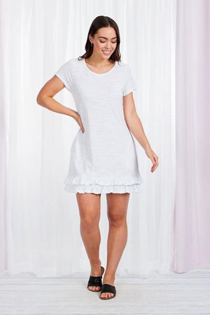 Sleeveless T-Shirt Dress With Frill Hem