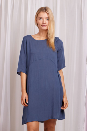 3/4 Sleeve Dress With Pocket