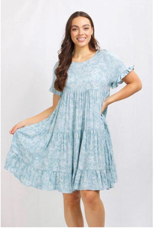 PAISLEY TIERED DRESS