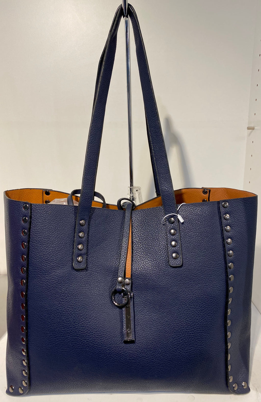 Reversible Handbag With Studded Detail
