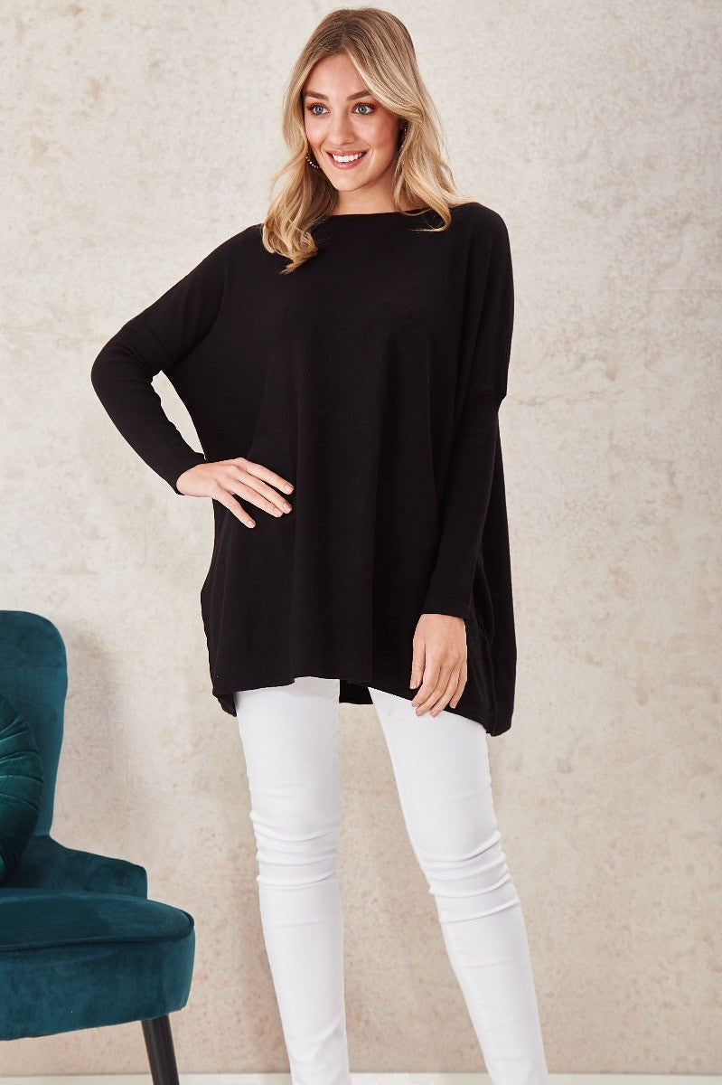 Skinny Long Sleeve Oversized Knitted Pullover