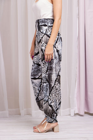 Animal Print Harem Pants