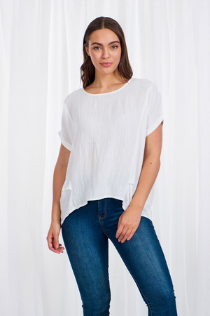 Oversized Short Sleeve Top