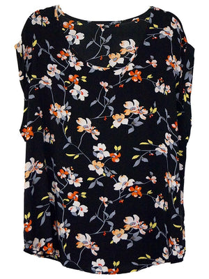 Floral Cap Sleeve Shell Top