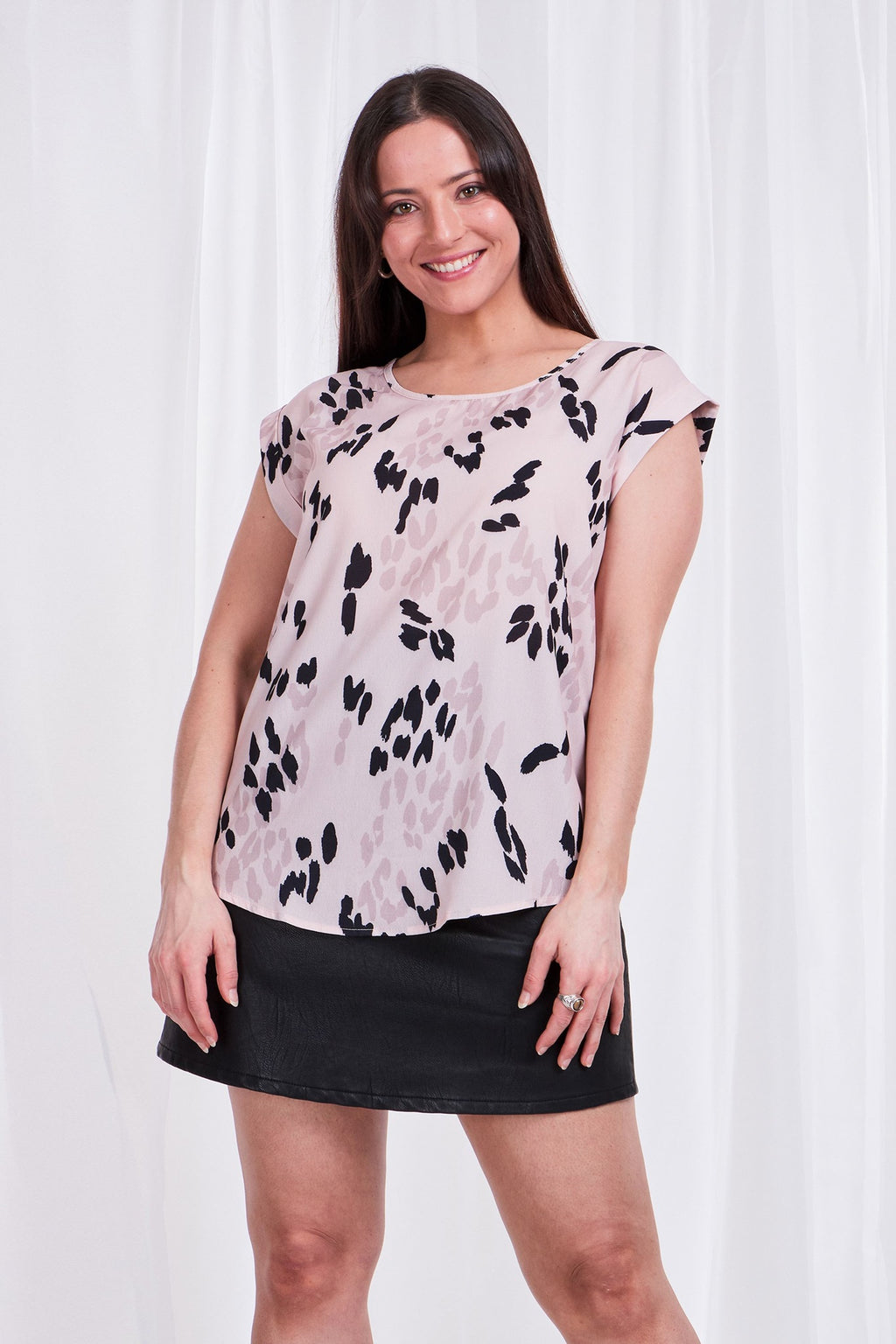 ANIMAL PRINT SHELL TOP