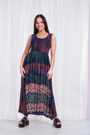 CASUAL TIE -DYE ONE SIZE DRESS