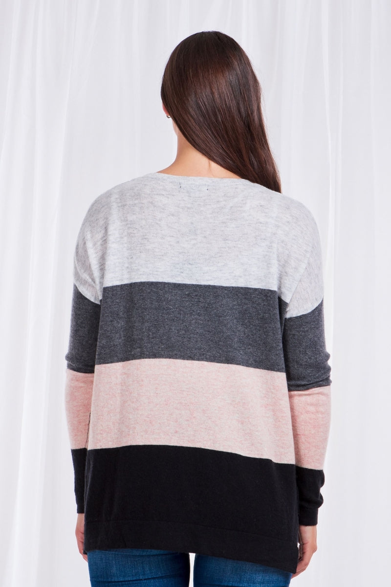 Long Sleeves Printed Knit Pullover