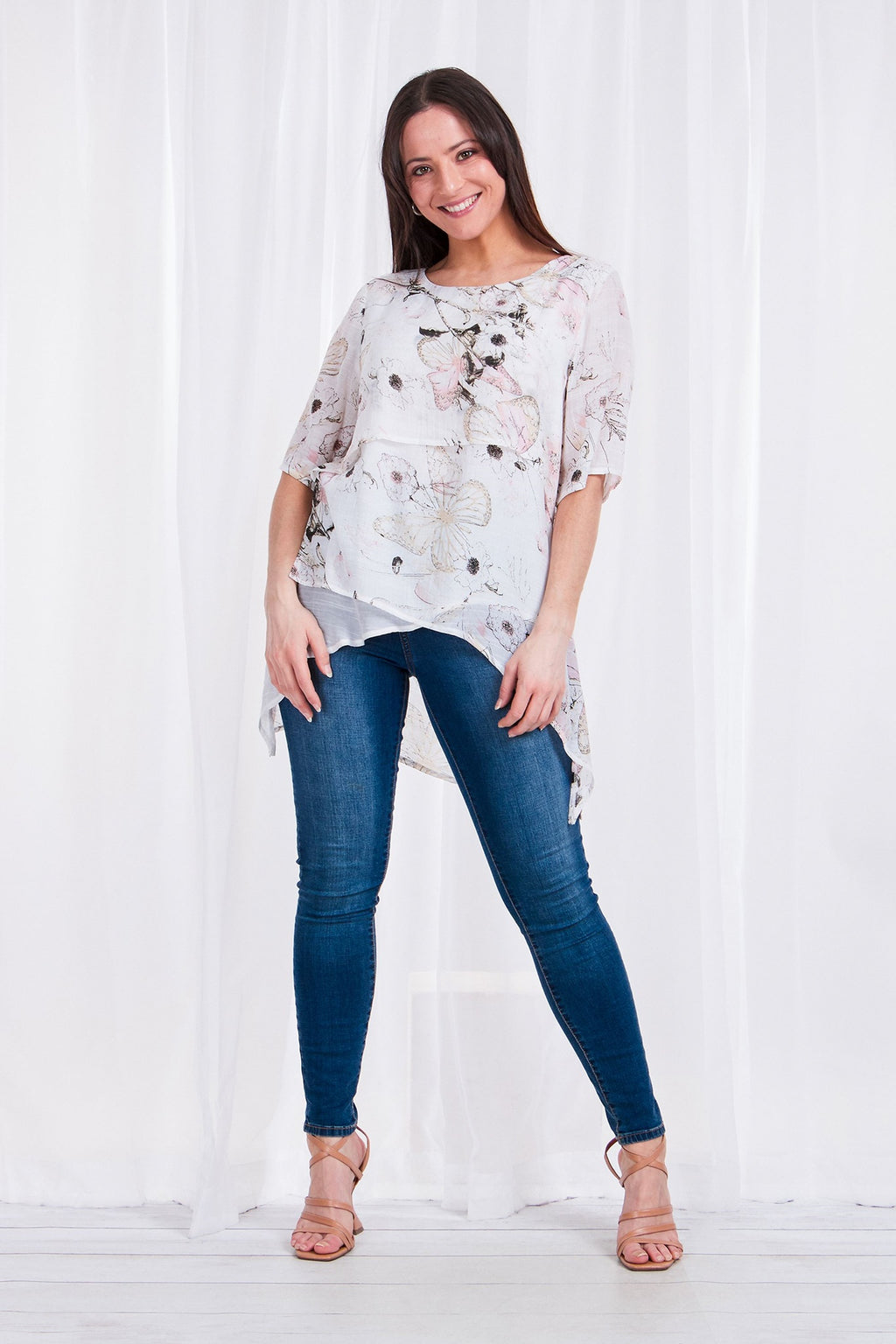 FLORAL LAYERED FRONT TOP