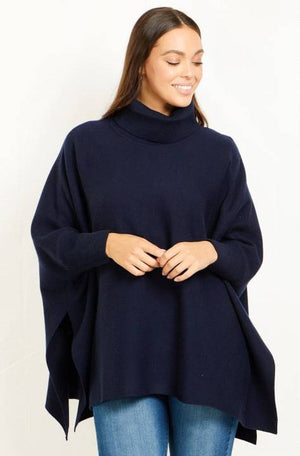 Long Sleeves Cowl Neck Oversized Knit Pullover