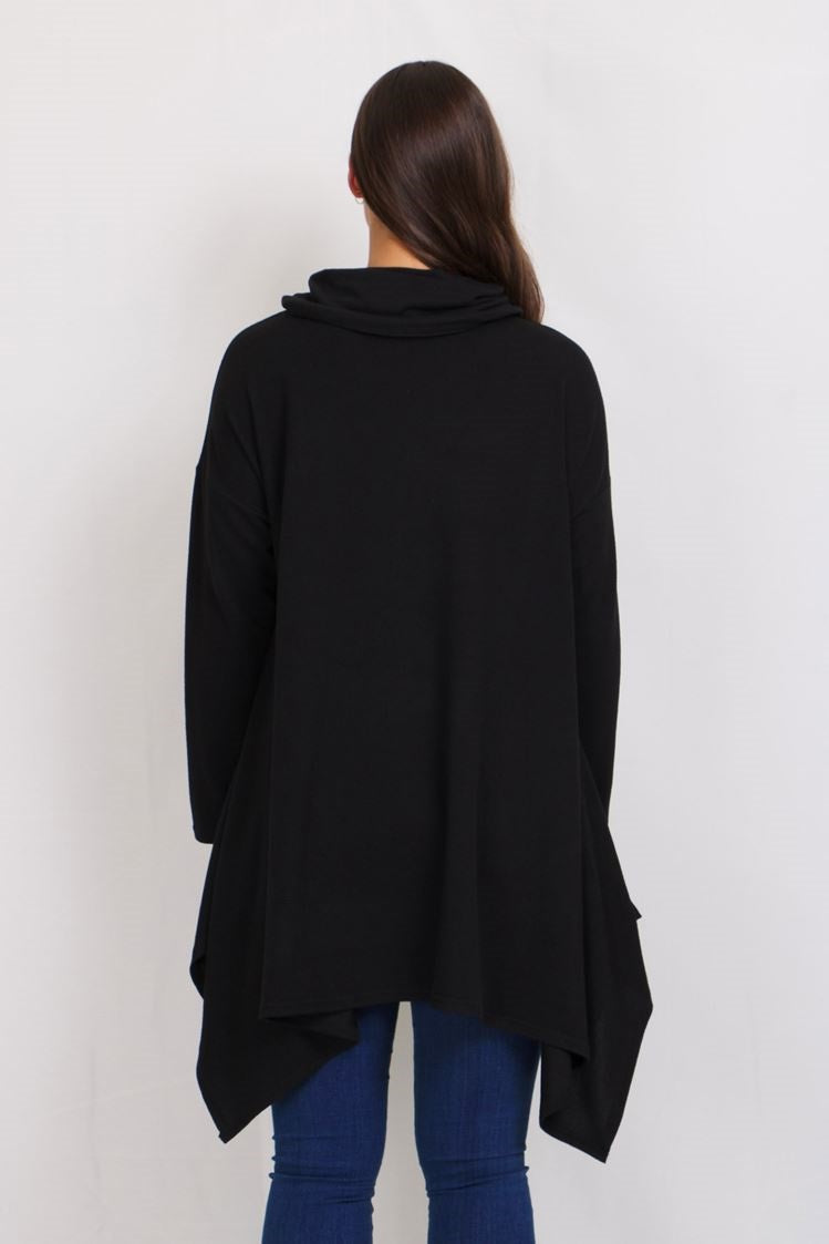OVERSIZED ASYMMETRIC TOP