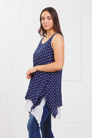 POLKA DOT DOUBLE LAYER TUNIC